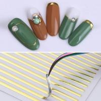 3D гибкая лента д/дизайна ногтей, золото