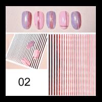 3D гибкая лента д/дизайна ногтей,красная голография