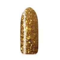 BlueSky Shellac 10 мл на прозрачной подложке, с золотыми блестками разной величины