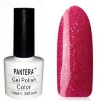 SHELLAK PANTERA 63  Темно-розовый тон с золотым и фиолетовым шиммером, сверкающий, плотный тон.
