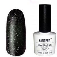 SHELLAK PANTERA  103   Плотный черный с мульти блестками, крупными и мелкими, сверкающий тон.