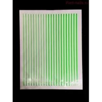 3D гибкая лента д/дизайна ногтей, зеленый неон