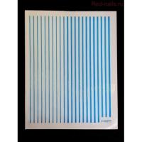 3D гибкая лента д/дизайна ногтей, голубой неон
