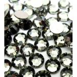 Стразы SS3 стекло плоские (Black Diamond) уп/50 шт