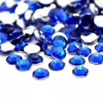 Стразы SS3 стекло плоские (синие 08) уп/50шт