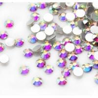 Стразы SS3 стекло плоские белые голография, уп/50 шт.