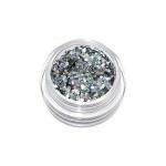 Соты серебро голография