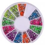 Клепки металлические в карусельке разноцветные