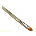 Кисть (овал) прозрачная ручка с блестками для геля №14
