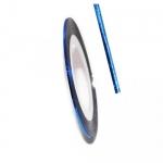 Фольга для дизайна в рулонах 20м*8мм №26 Синяя