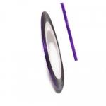 Фольга для дизайна в рулонах 20м*8мм №09 Фиолетовая голография