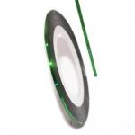 Фольга для дизайна в рулонах 20м*8мм №24 Зеленая