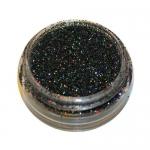 Сверкающая пыль в банке 3 гр. мелкие черный голография