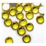 Стразы SS3 1,5мм стекло плоские (лимонные) уп/50шт