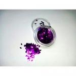 Слюда камифубуки ромбик р-р 1,5мм фиолетовые