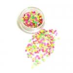 КОНФЕТТИ КАМИФУБУКИ МИКС ( разные цвета, один размер) НЕОН сиреневый,розовый,салатовый