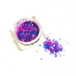 Конфетти камифубуки микс (разные цвета,разные размеры) синий,розовый