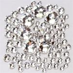 Набор страз микс размеров (500-600шт) от S3 -S16 стекло,  белые.