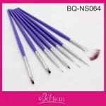 Набор кистей д\дизайна 7 шт( фиолетовые ручки) П-3 НОВИНКА!