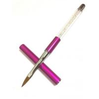 Кисть д/акрила складная (ручка с кристалликами)