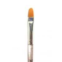 Кисть д/геля (овал) кристальная ручка с блестками № 12 НОВИНКА! Япония