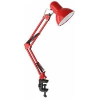 Лампа настольная для работы мастера красная без лампочки