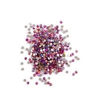 Стразы стекло, ss3 розовая голография, уп/50 шт.