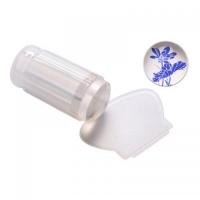 Штамп для стемпинга, силиконовый, прозрачный со скребком (большой)