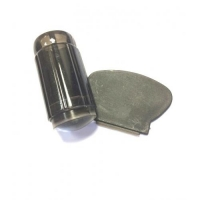 Штамп для стемпинга, силиконовый, черный со скребком (большой)