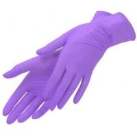 Перчатки нитрил р-р М 1 пара  лиловые