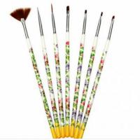 «Набор кистей для росписи(7шт) с цветами, белые»