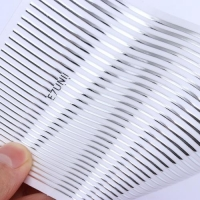 3D гибкая лента д/дизайна ногтей, серебро