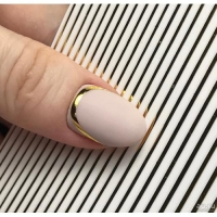 3D гибкая лента д/дизайна ногтей, бронза
