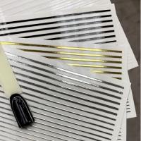 3D гибкая лента д/дизайна ногтей, черная