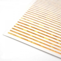 3D гибкая лента д/дизайна ногтей, золото голография