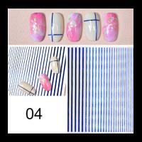 3D гибкая лента д/дизайна ногтей, синяя голография