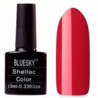ВlueSky Shellac 10 мл 100 Очень яркий красный матовый тон,плотный.