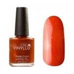 CND VINYLUX 172 Fine Vermillion Насыщенный  оранжево-песочный, плотный с микроблеском 15 мл.