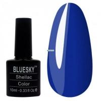 SHELLAC BlueSky 05 яркий васильковый плотный тон.