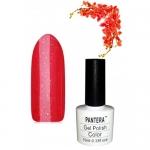 SHELLAK PANTERA 02S Ярко-красный плотный сверкающий тон с красными микро-бестками, улетный цвет!