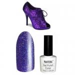 SHELLAK PANTERA 14-S   Фиолетово-синий  тон,сверкающий , мелкие  блестки,плотный, очень яркий.