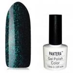 SHELLAK PANTERA 21 -F Темно-чернильный тон с разноцв. Микро блестками, плотный тон.