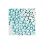 Стразы SS3 стекло плоские (Aguamarine)уп/50 шт