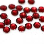 Стразы SS4/1,5мм  стекло плоские красные  уп/50шт