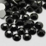 Стразы SS3/1, 2 мм стекло плоские(черные ) уп /50 шт