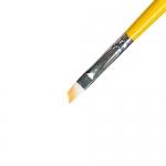Кисть для геля искусственный ворс , скошенная № 4  ИРИСК (основная рабочая)