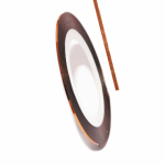 Фольга для дизайна в рулонах 20м*8мм №28 Бронза