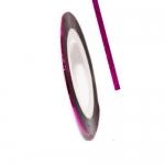 Фольга для дизайна в рулонах 20м*8мм №25 Малиновая
