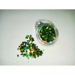 Слюда камифубуки ромбик р-р 1,5мм зеленые голография