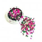 Конфетти камифубуки микс (разные цвета,разные размеры) зеленый,розовый,серебро